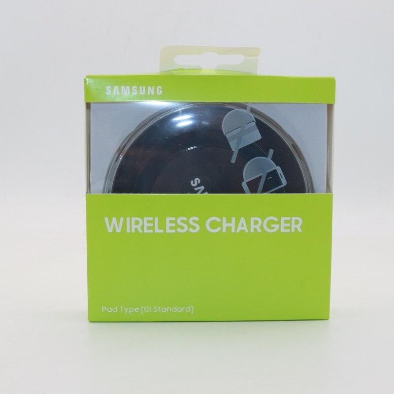 오리지널 삼성 무선 충전기 QI 충전 패드 갤럭시 S7 S6 가장자리 S8 S9 S10 플러스 참고 4 5 8 XS XR MI 9, Black with box (POP 5707630549)