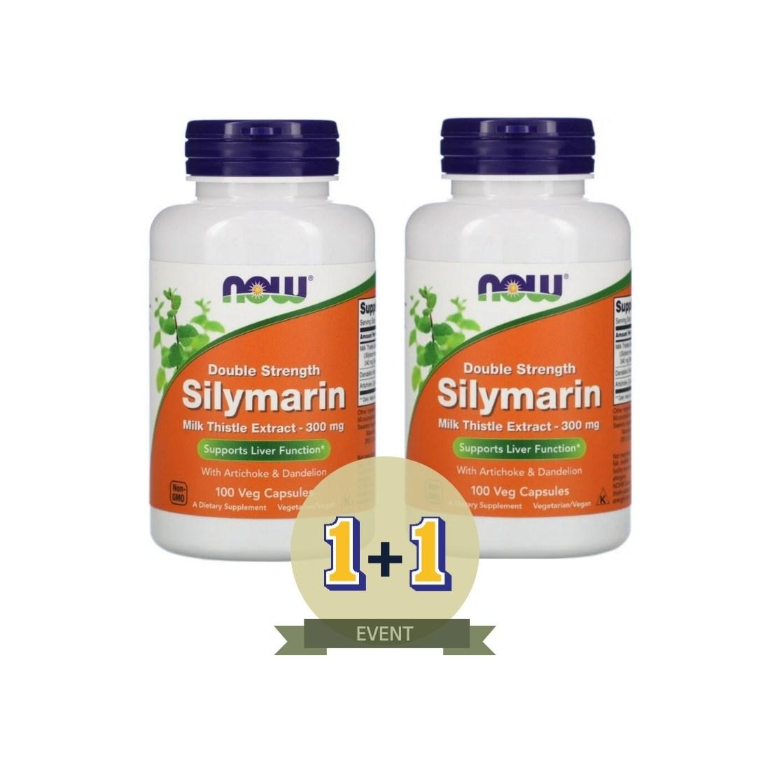(1+1) 나우푸드 실리마린 밀크시슬 300mg 100캡슐x2개 총 200캡슐, 300mg 100캡슐x2