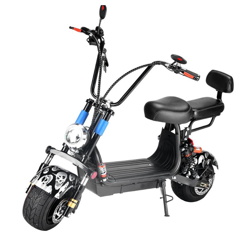 미니 할리 전기 전동 스쿠터 바이크 오토바이, 12A, 블랙