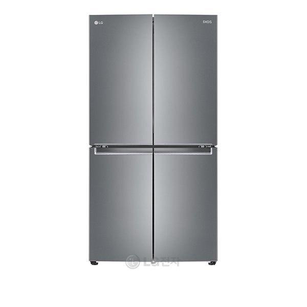 LG [LG][공식판매점] DIOS 냉장고 F873SS11E (4도어/870L/상냉장하냉동/1등급), 단품없음