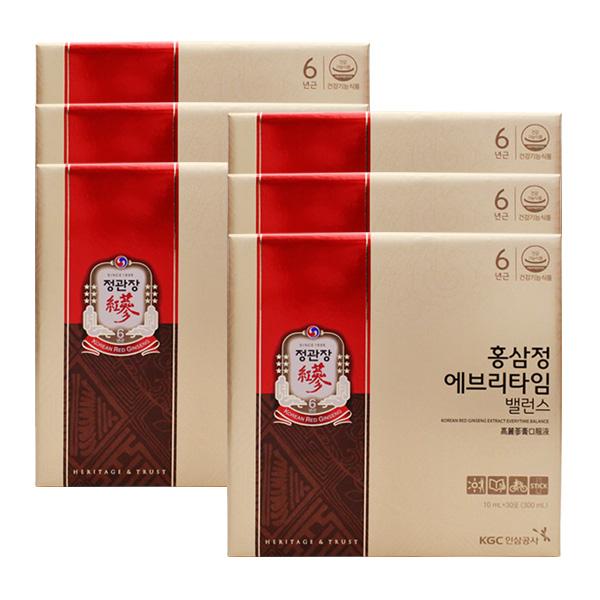 정관장 홍삼정 에브리타임 밸런스 30포X6개 단품 단품