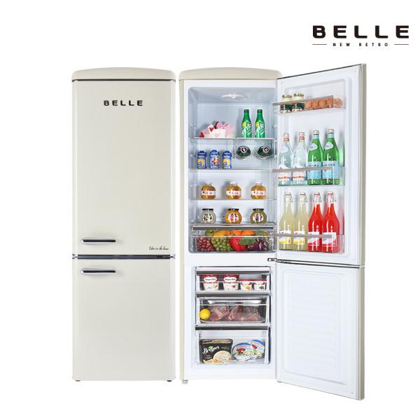 [벨] 뉴레트로 소형 냉장고 NRC27ACM 270L 1등급 콤비냉장고 (2도어/크림), 상세 설명 참조 (POP 4698959038)