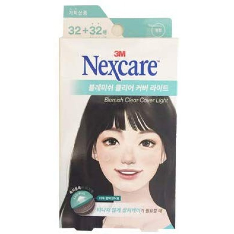 3M Nexcare Blemish Clear Cover Light Easy Peel 32 + 32 Patches 3M 네쿠스케아 블레미쉬 클리어 커버, 1, 1