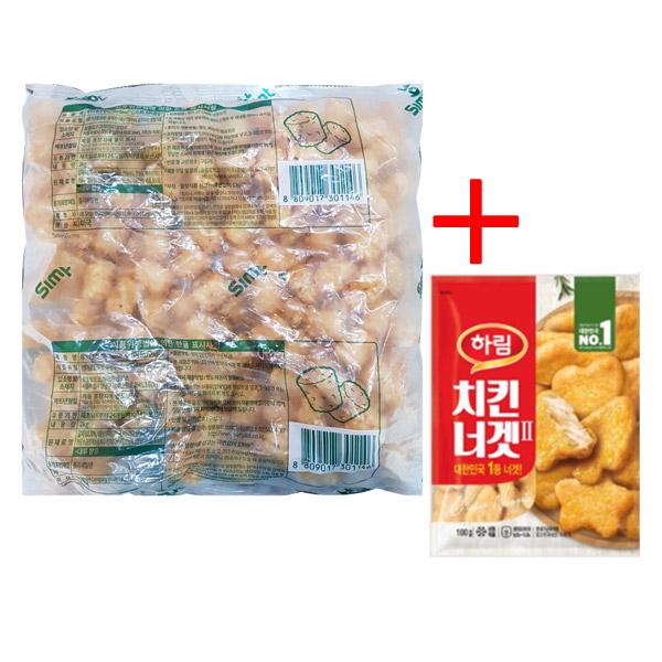 심플 맛감자 2kg+치킨너겟 100g, 2kg, 1개