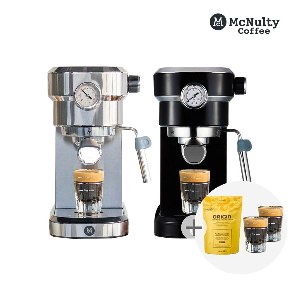 맥널티 에스프레소 반자동 커피머신 MCM-6851 사은품 2종 증정, MCM-6851S_사은품