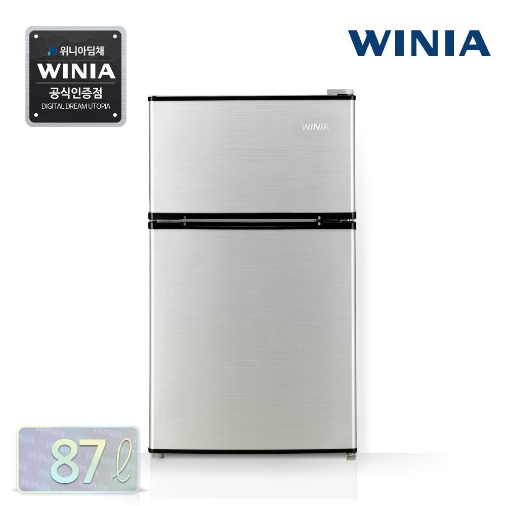 위니아 소형냉장고, 04 WRT087BS 실버/87L/2도어