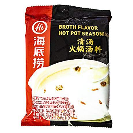 Haidiao Hot Pot Family(海底捞系列调料) (Clean Soup(白汤)) Haidiao Hot Pot Family (海底 捞 系列 调料) (깨끗한 수프 (白汤)), 1