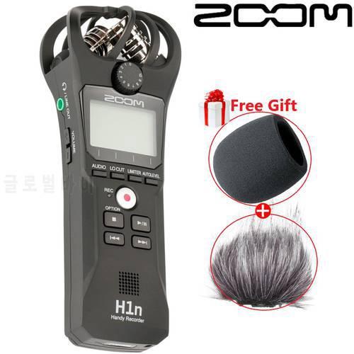블랙 ZOOM H1N 전문 음악 회의 레코더 SLR 마이크로 동영상 녹화 마이크 US, 상세내용참조
