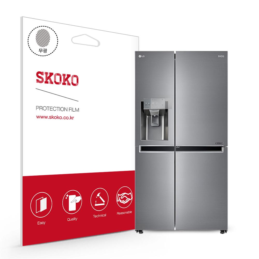 스코코 LG 디오스 얼음정수기 냉장고 J811S35 제어창 액정보호필름, 단품
