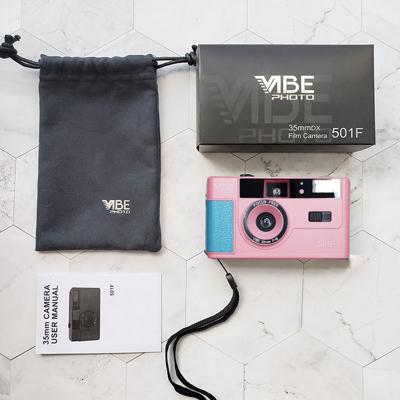 VIBE 바이브 501F 독일 입문용 레트로 빈티지 필름카메라 32mm 블랙 베이지 레드 핑크 딥그린