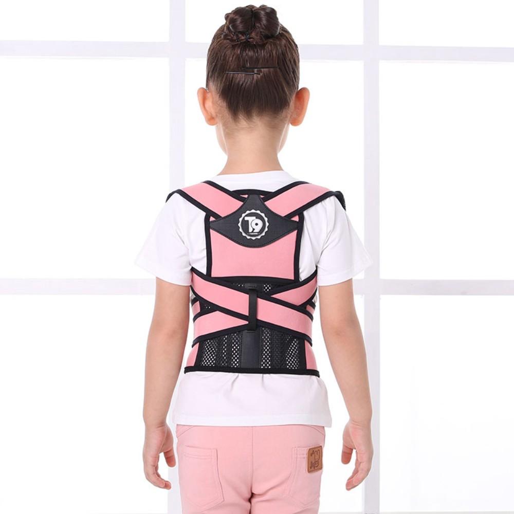 바른자세 척추체형 교정기굽은등 허리 거북목 자세교정밴드, 기본 핑크 + M개