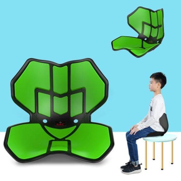 손연재의자 커블체어 소형 어린이 청소년 자세교정의자, 아미그린