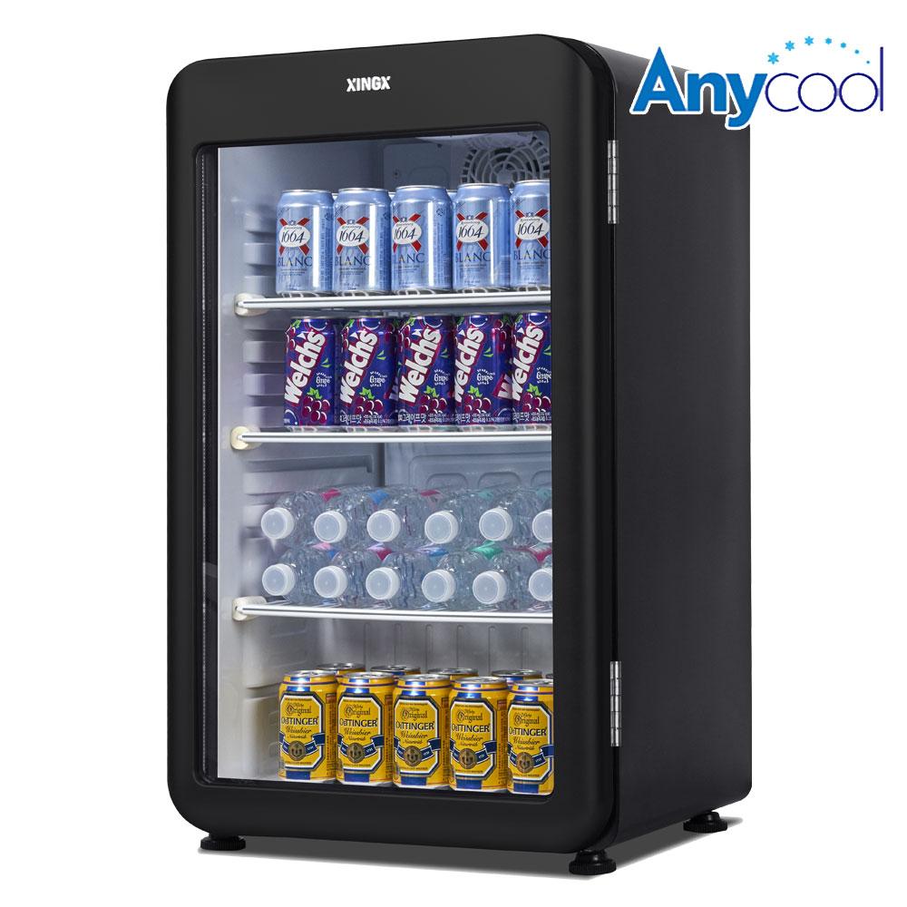 씽씽 소형 냉장쇼케이스 XLS-106 블랙 미니음료냉장고 음료수냉장고 93L, 단품