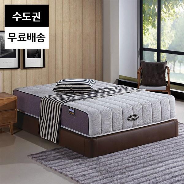 푹잠 라텍스 2인용 침대 매트리스(퀸사이즈), 그레이_퀸매트리스