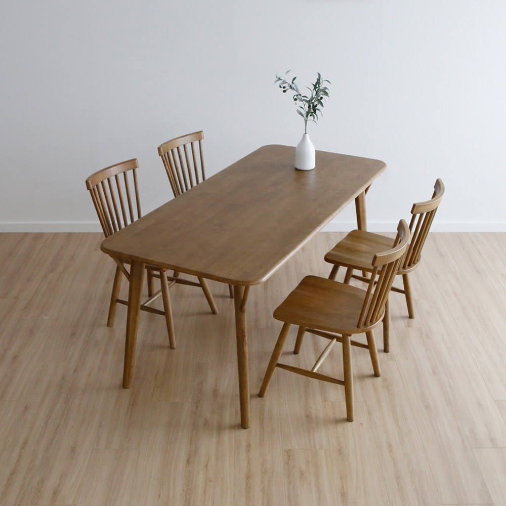 라미에스 원목 6인용 식탁 세트 제이수, 제이수식탁+의자4