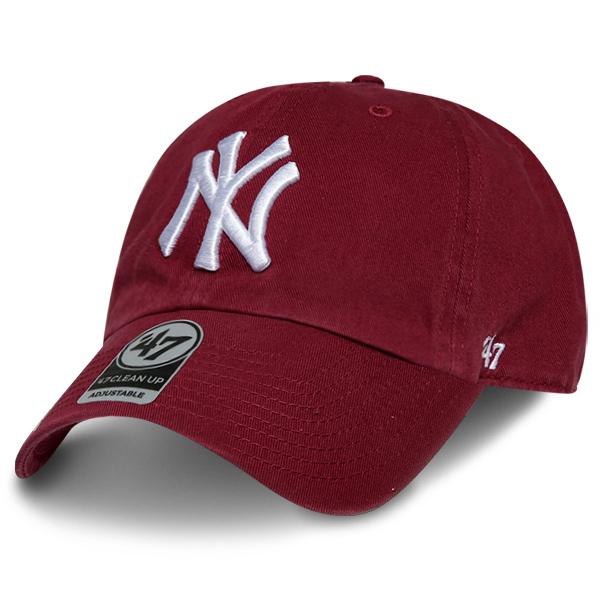 MLB 47브랜드 클린업 뉴욕 양키즈 버건디 모자