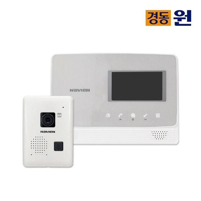 [천삼백케이] [경동나비엔_하우스플러스] 셀프시공 비디오폰(인터폰) NHA-0475(실버), 단품
