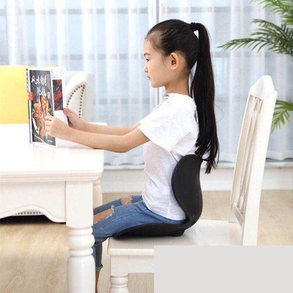 커블 손연재 와이더 체어 허리보조 거북목 유아용 좌식 의자, 디자인2 블랙