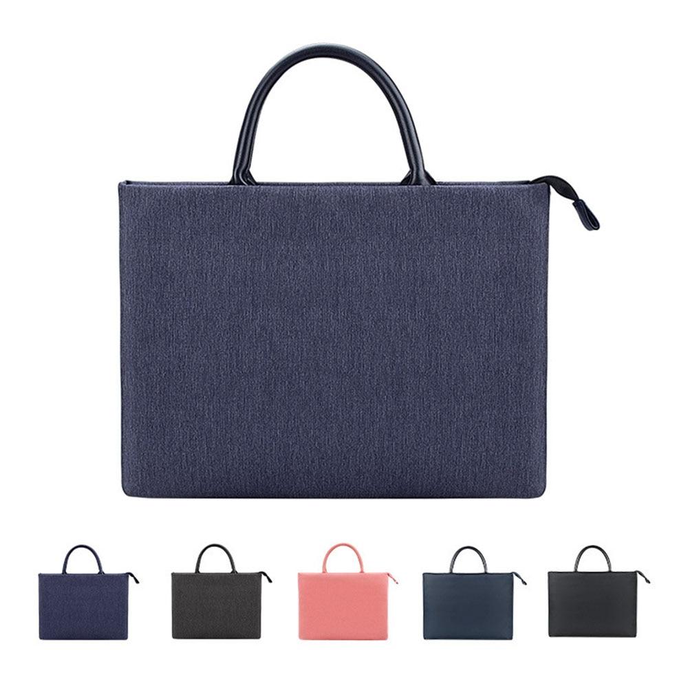 노트북 핸드백 간단한 13.3 14.1 15.6 인치 HP 아수스 델 노트북 케이스 비즈니스 서류 가방 캐주얼 노트북 가방 슬리브 방수|Laptop Bags & Cases|, 1개, 13.3 inch, Cherise Fabric Pink