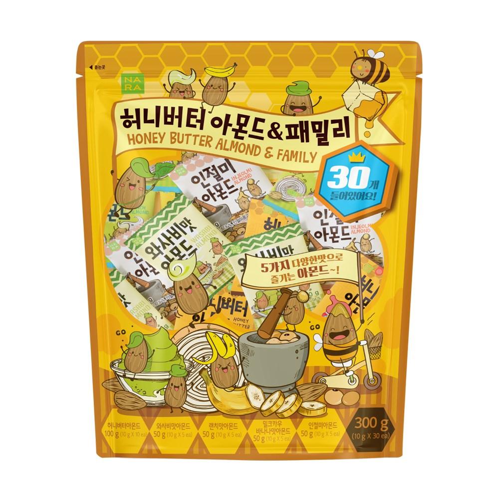 [나라] 허니버터 아몬드 & 패밀리 300g, 단품