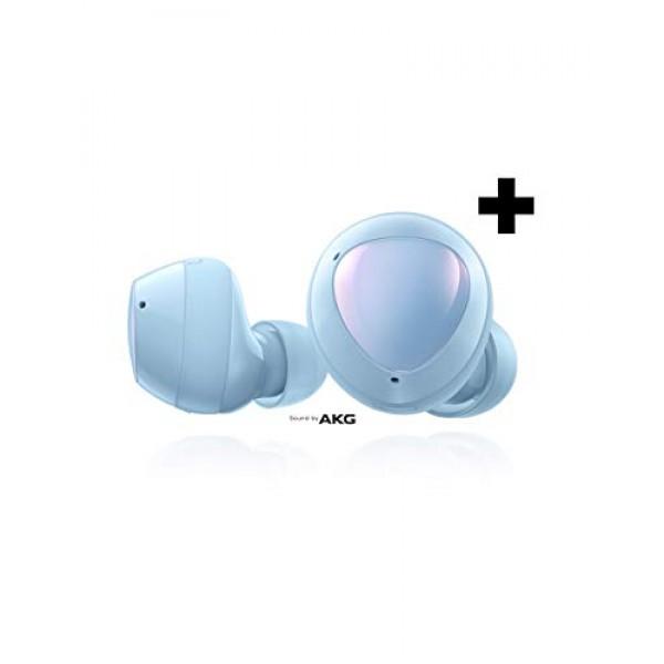Samsung Galaxy Buds + Plus True Wireless 이어폰 (무선 충전 케이스 포함) Cloud Blue - US 버전