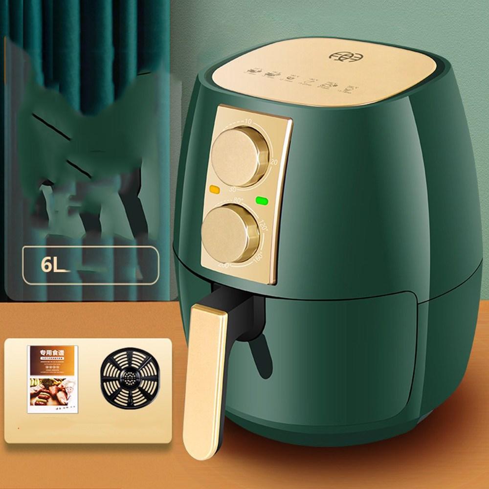 Dec.18 64번 에어프라이머 가정용 스마트 오일 프리 5리터 대용량 전자동전기 다기능 프라이머 6리터Z, [6L 더 블 버튼 온도 제어] 식품 급 세라믹 코팅