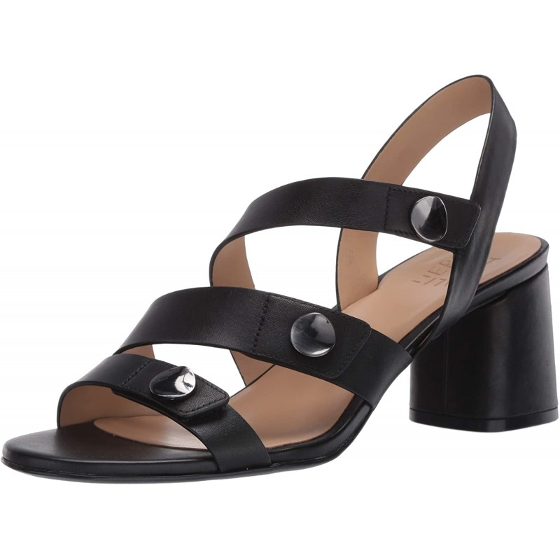 [230mm] 내추럴 라이저 여성용 Alicia Black Leather Heeled Sandals 6 M
