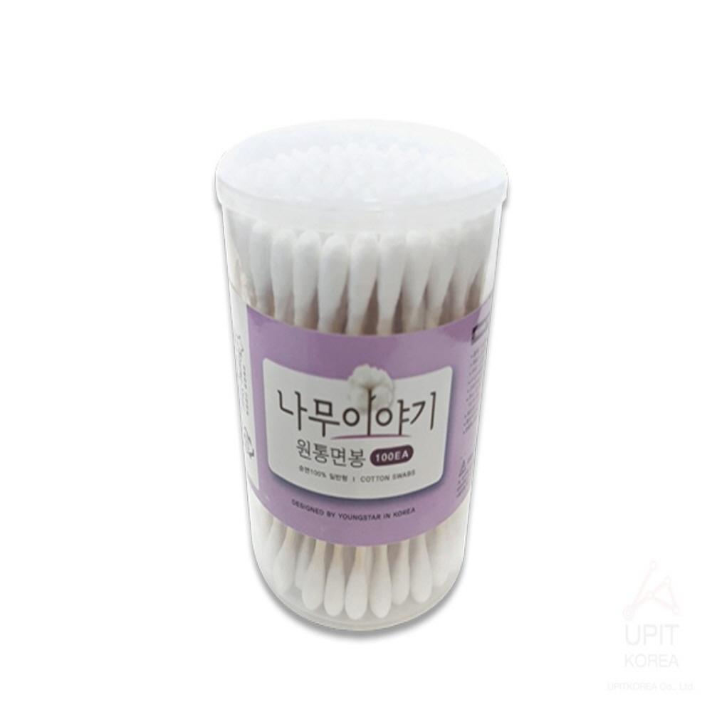 원통 긴면봉 왕면봉 얇은 약국 나무 의료용 귀 100P (POP 5057638737)