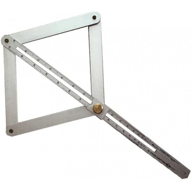 다기능 사각형 파인더 알루미늄 합금 앵글 눈금자 사각형 칼 도구 DIY 측정 목수