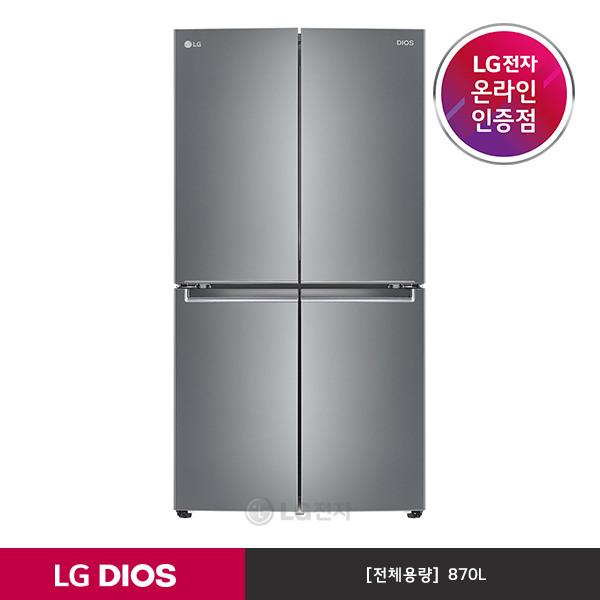 [LG전자] DIOS 냉장고 F873SS11E (4도어/870L/상냉장하냉동/1등급), 상세 설명 참조 (POP 5470574265)