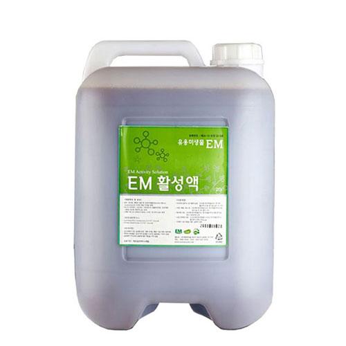 [이엠코라존] EM활성액(20L) 이엠발효액 배양액, 1통, 20kg