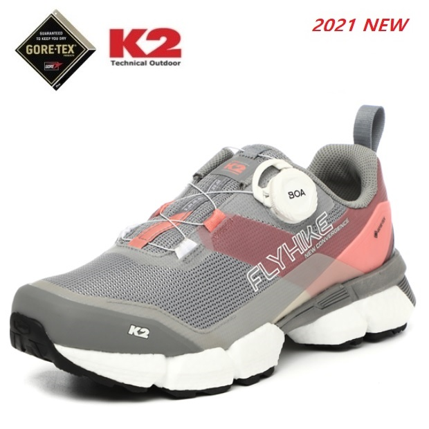 K2 케이투 여성용 고어텍스 워킹화 트레킹화 플라이하이크 나노 (FWS21G18) 핑크