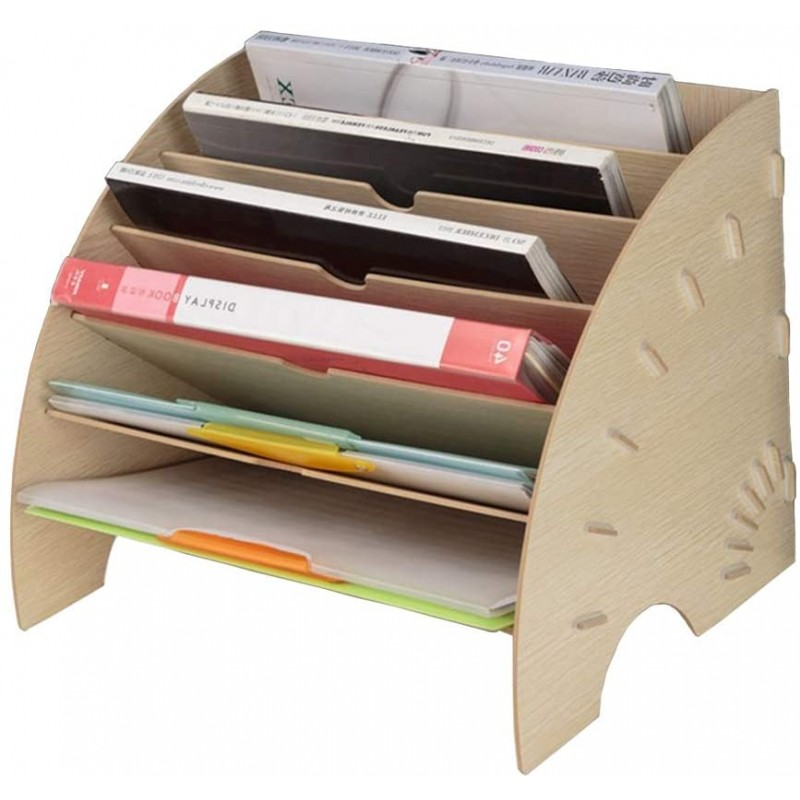 파일 선별기 6 구획 A4 폴더 잡지 종이 및 편지 대형 흰색 나무 사무실 보관을위한 © ©벤테일 모양의, 단일상품