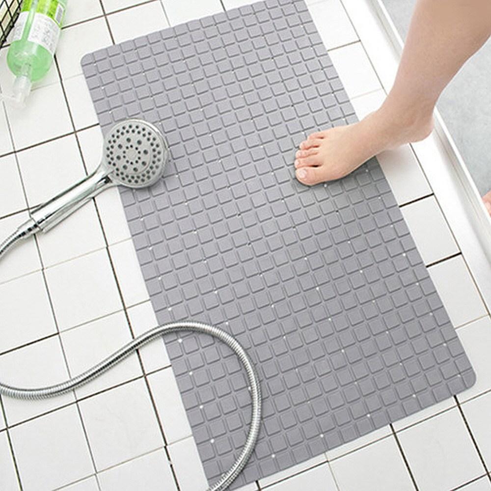 [스윗브릿지] 욕실 미끄럼방지 물빠짐 욕실매트 안전매트 발매트-3color, 그레이