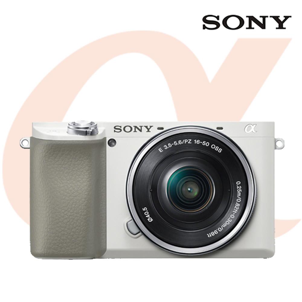 소니 알파 A6100L 미러리스 카메라 실버 + 파워 줌렌즈킷 SELP1650, 화이트