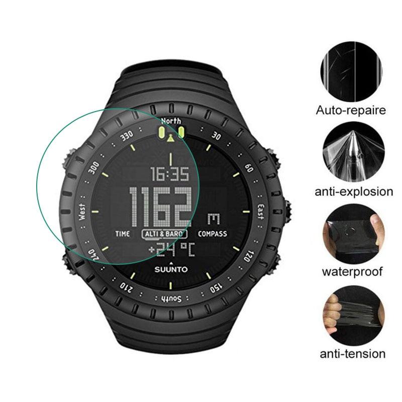 순토 코어 시계 gps 스포츠에 대 한 3pcs tpu 소프트 지우기 보호 필름 가드 모든 블랙 smartwatch 화면 보호기 커버 유리가 아닌, 옵션선택개, 단일옵션선택