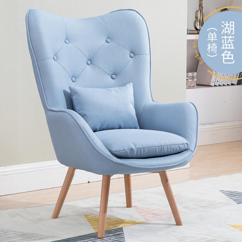 북유럽 인테리어 1인용 안락 의자 독서 수유 체어 암체어, D(쿠션미포함)