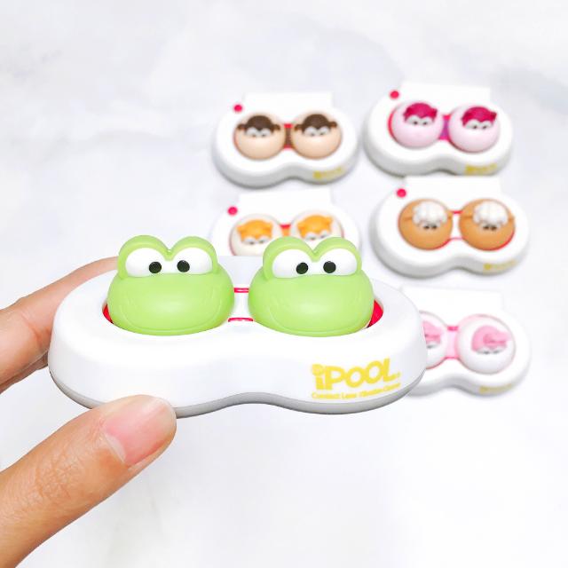 렌즈소녀 미오프렌즈 아이풀 렌즈세척기 (캐릭터 렌즈케이스+배터리 포함), 1세트, 프로기(렌즈세척기+렌즈케이스+배터리)