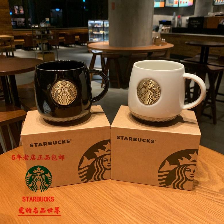 스타 벅스 청동 머그잔 흑백 커플컵 세라믹 커피 컵 선물 상자, 개, 커플 머그잔 커플