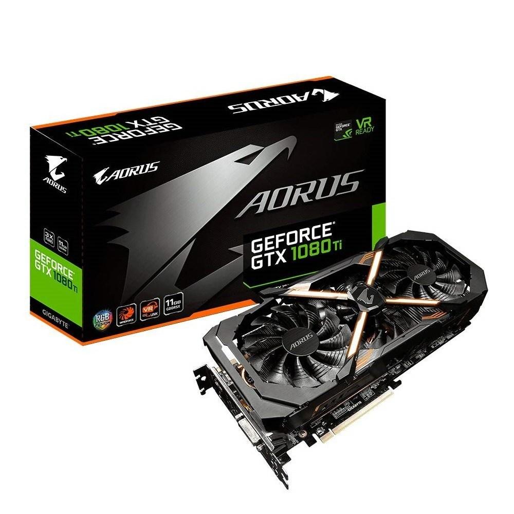 GIGABYTE AORUS GeForce GTX 1080 Ti 11GB Graphic Cards (GV-N108TAORUS-11GD) 그래픽카드, GV-N108TAORUS-11GD