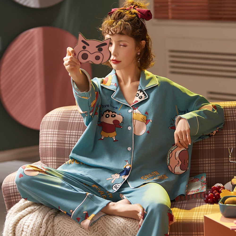가을 여성 캐릭터 30종 잠옷 세트