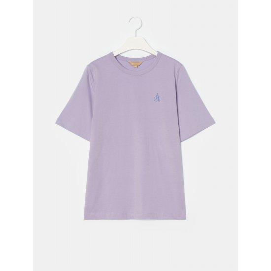 빈폴레이디스 [GREEN BEANPOLE] 라벤더 빅 로고 자수 반소매 티셔츠 (BF0742N01T)