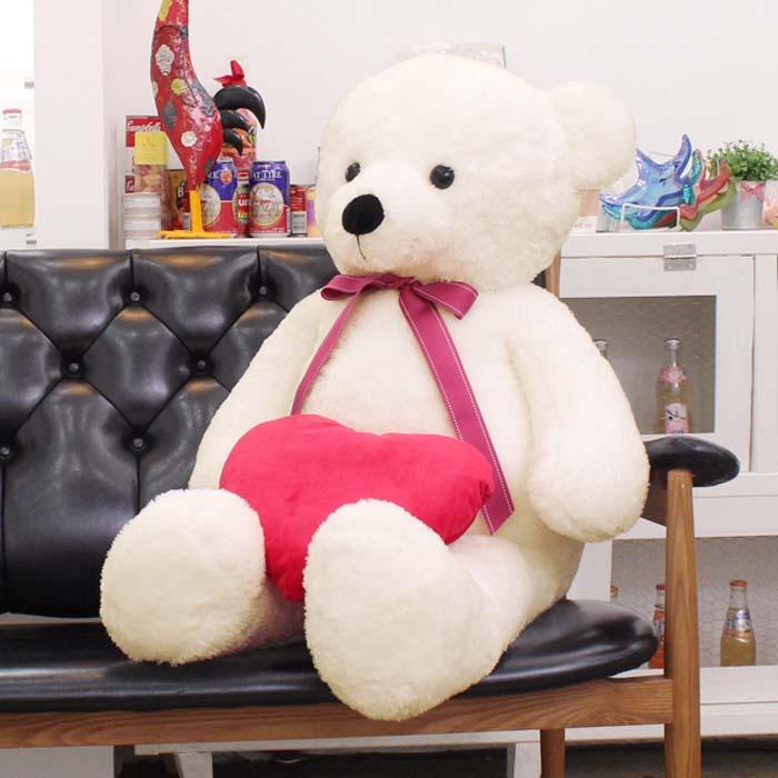 인기선물_아이보리 스킨1m30cm 대형 큰곰인형 빅베어