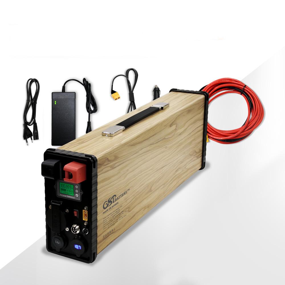 GSP 리튬인산철 AC 파워뱅크 올인원 100A 스마트, 올인원 100A 스마트(우드) (POP 4948076035)
