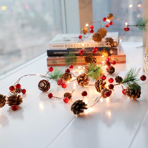 팝바나나 크리스마스 베리 솔방울 가랜드 led 모빌 조명등