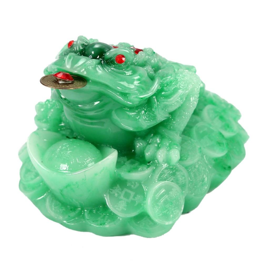 칠나무 장식품 두꺼비 풍수 대박 돈더미 삼족두꺼비 복두꺼비 수지 WDD0813-03, 사진색H