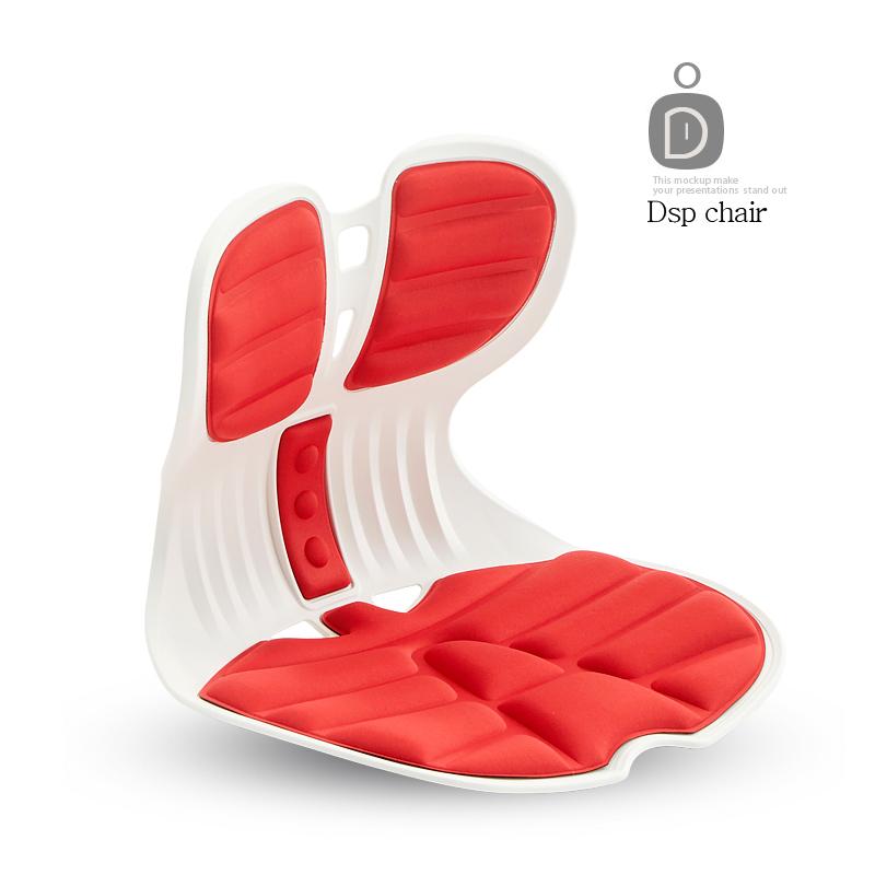 [DSP] 콤비체어 커브 좌식 바른자세 허리교정 의자 등받이, 콤비D12-레드