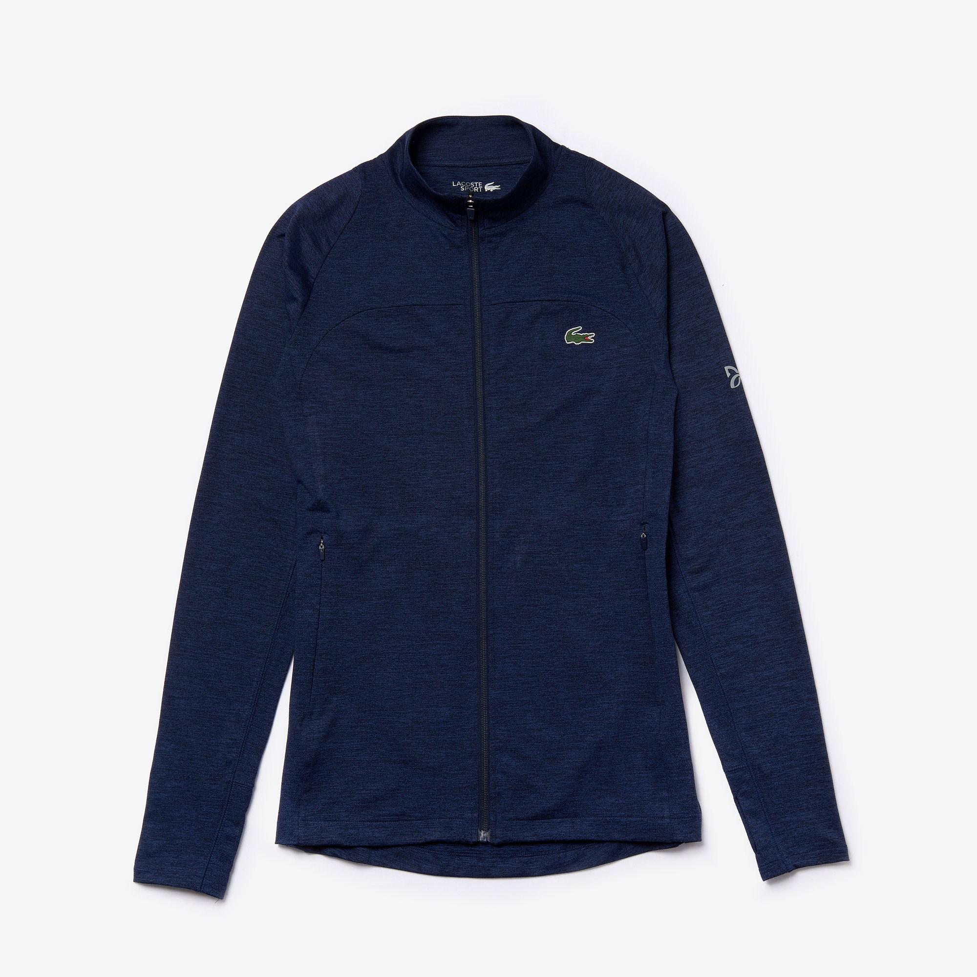 라코스테 Men's SPORT Novak Djokovic Stretch Zippered Jacket