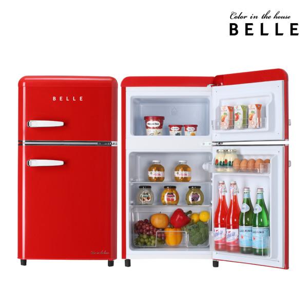 [벨] 레트로 냉장고 RD09ARDH 90L 1등급 미니 소형냉장고 (2도어/레드), 상세 설명 참조 (POP 4698986878)