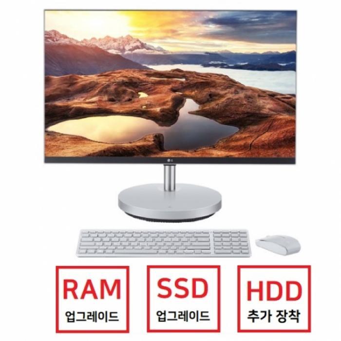 27V70N-GR35K 일체형PC [4GB 추가 (총8GB) + 500GB SSD 교체 + 1TB HDD 추가], LG